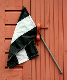 17 - White-Wing's flag sees daylight for the first time.