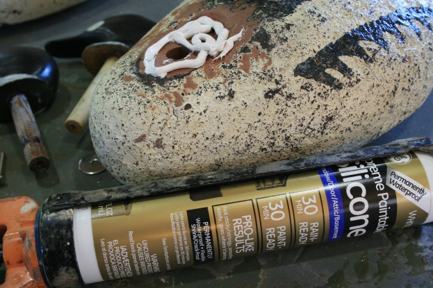 9 - I use a paintable silicon caulk to bed the heads and the hardware.